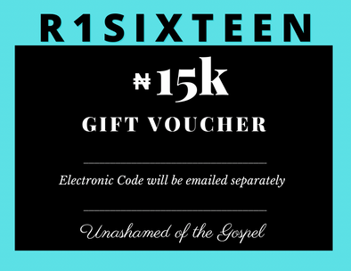 15K R1SIXTEEN Gift Card (electronic)