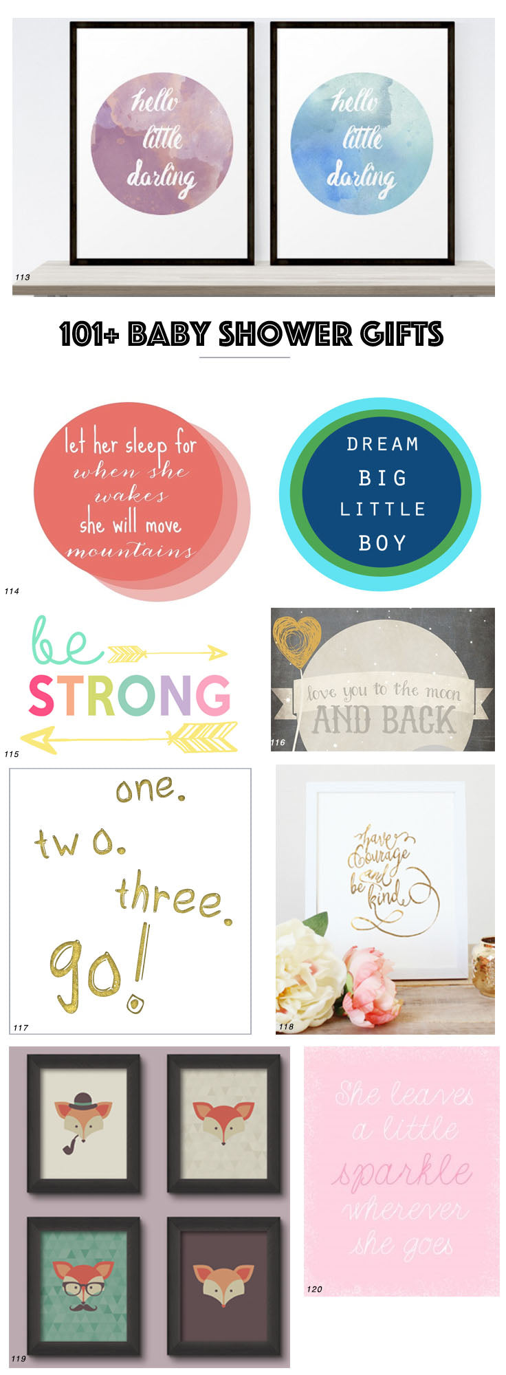 101 Free Baby Shower Gifts