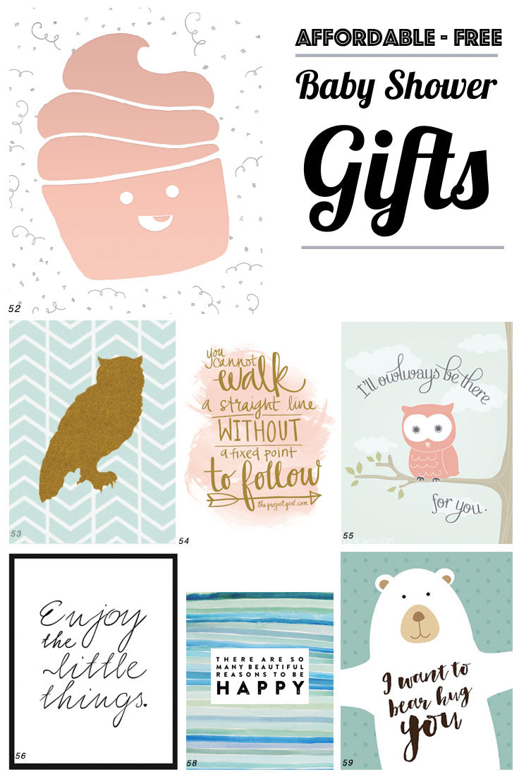 Affordable Baby Shower Gifts