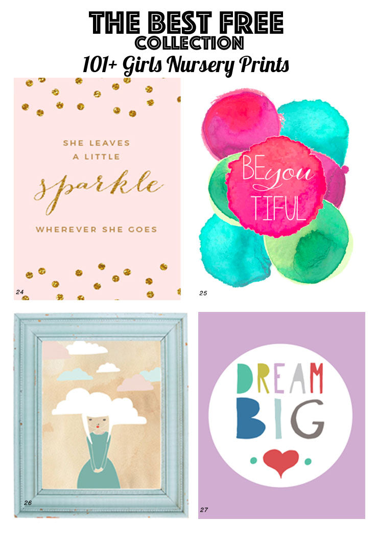 picture about Free Printable Nursery Art referred to as 126 No cost Nursery Printables: Best Advisor towards NURSERY Artwork