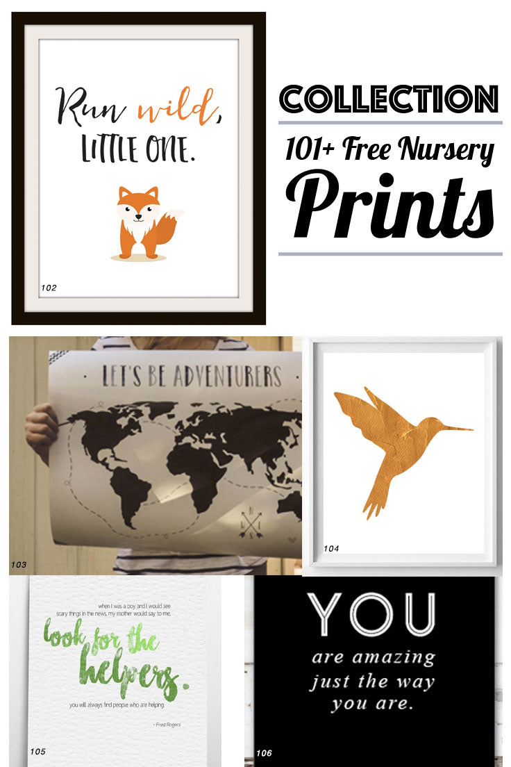 Collection Free Nursery Prints