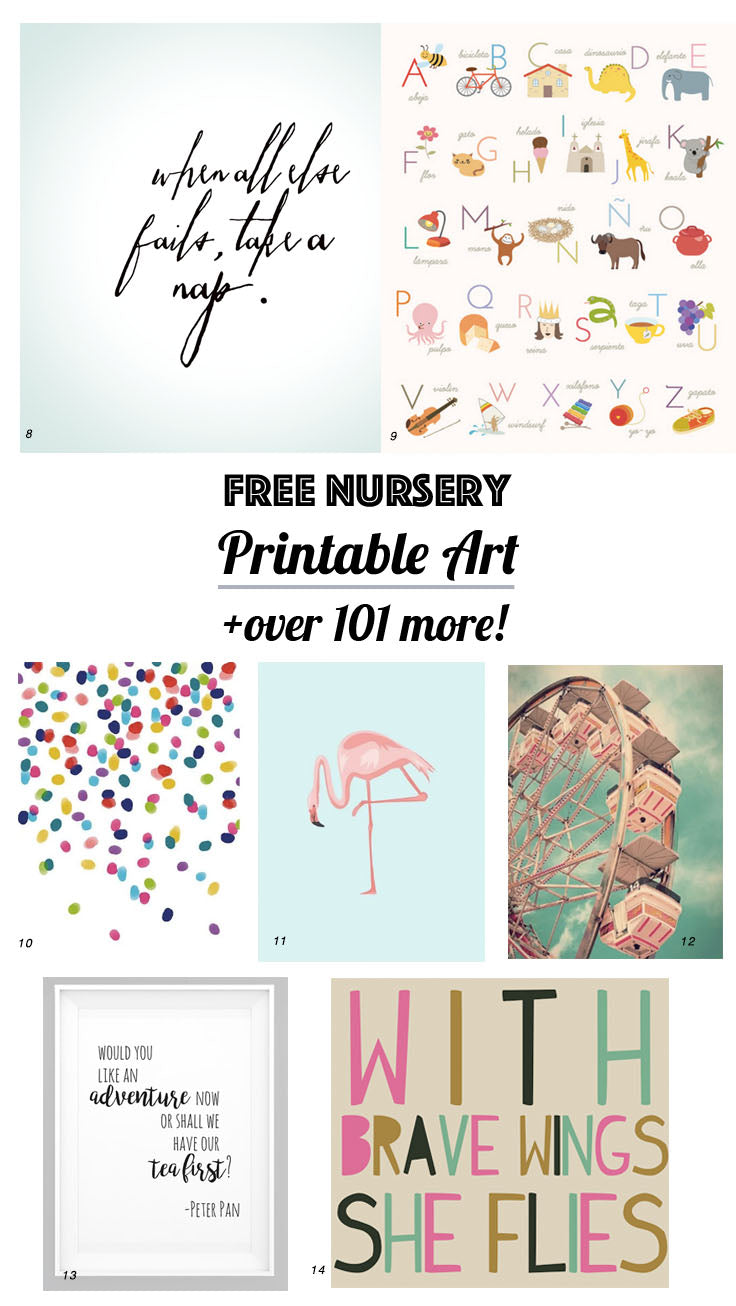 picture relating to Free Printable Nursery Art named 126 No cost Nursery Printables: Supreme Marketing consultant in direction of NURSERY Artwork