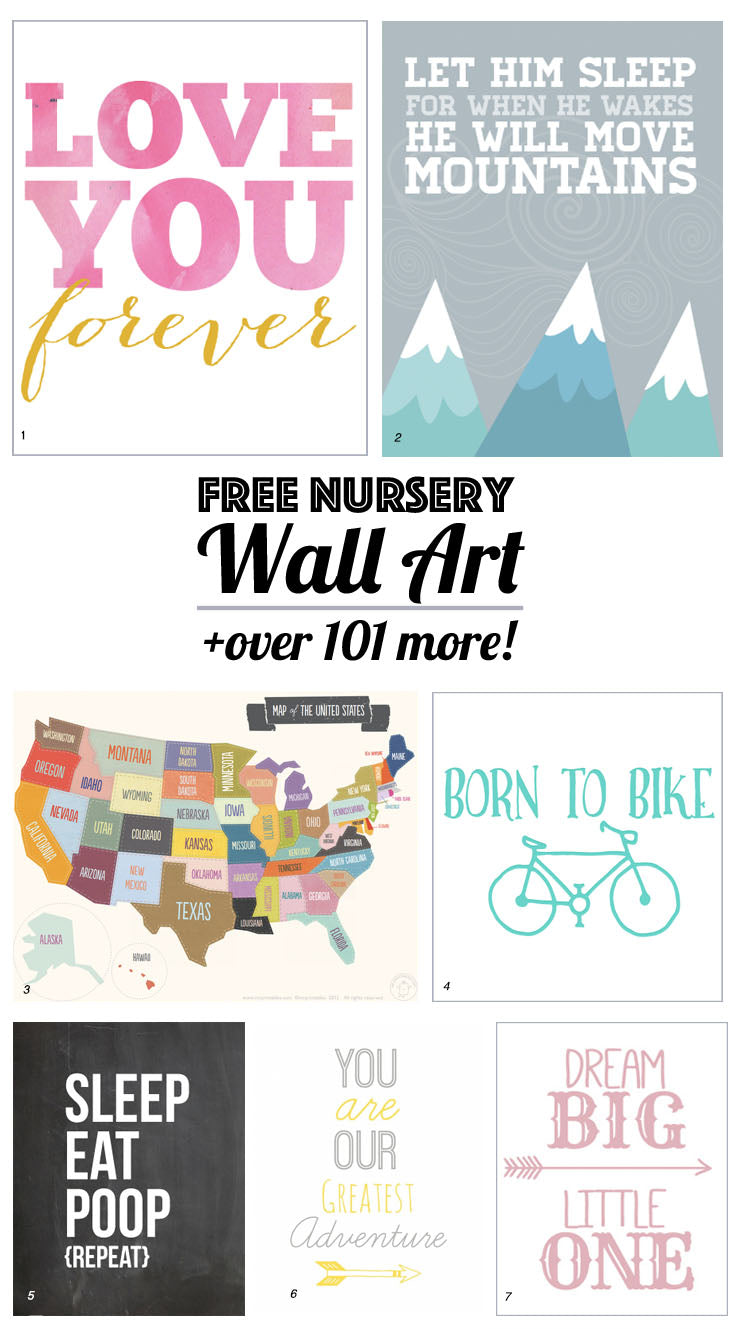 126 free nursery printables: ultimate guide to nursery art – little
