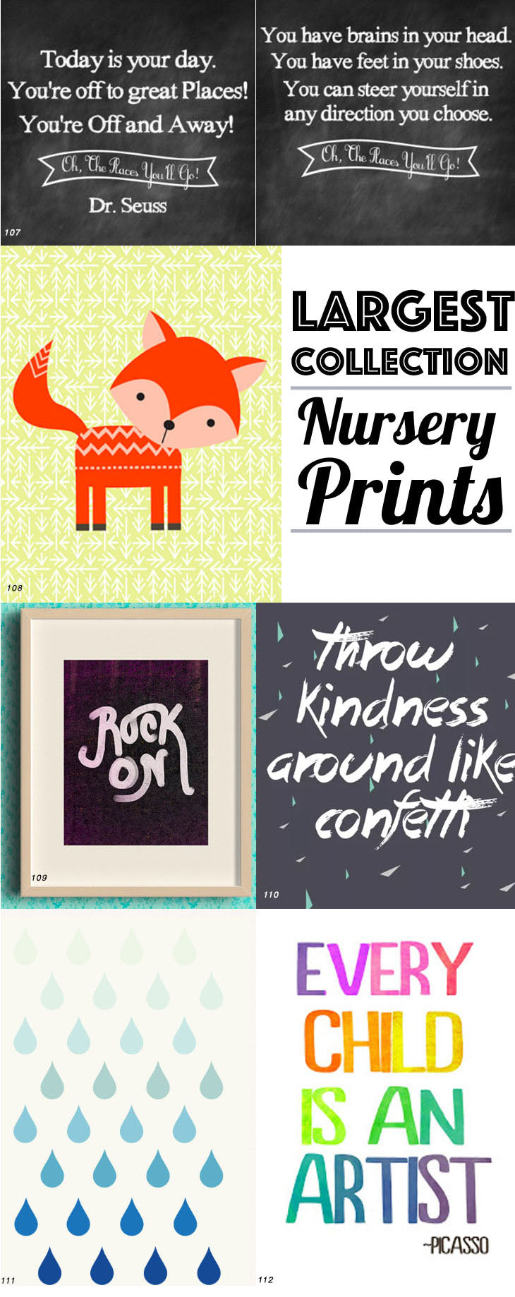Largest Collection Nursery Prints