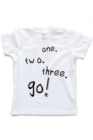 Let's Go! | Kids White T-Shirt - little cutees - 1