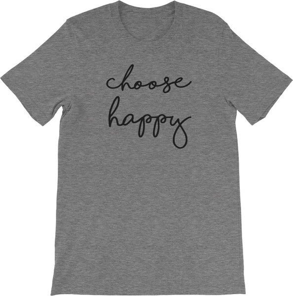 CHOOSE HAPPY DARK GREY
