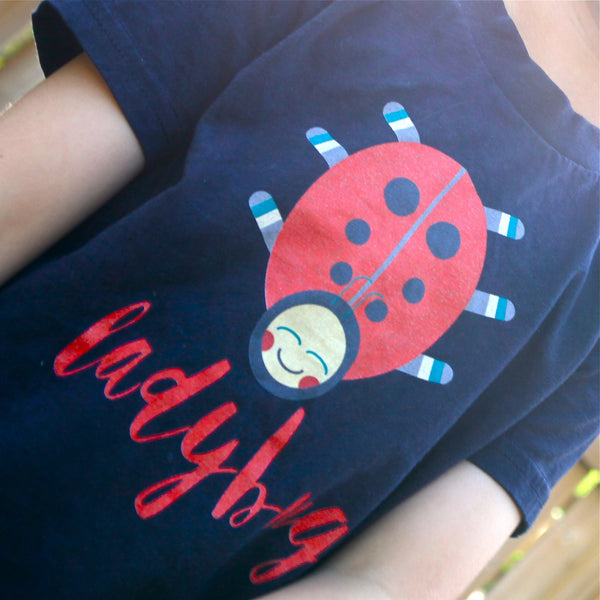 Ladybug T-Shirt | Kids Navy T-Shirt - little cutees - 2