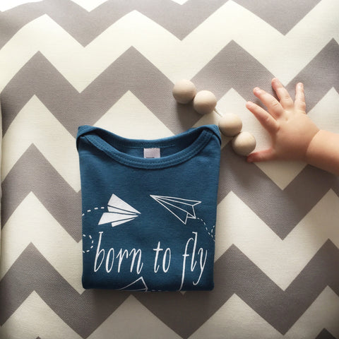 Kids Airplane Shirt | Toddlers Airplane Aviator Printed Graphic T-Shirt |  little cutees