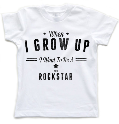 When I Grow Up I Want To Be A Rockstar | Kids T-Shirt