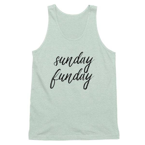 Sunday Funday Tank Shirt Sea Foam Green