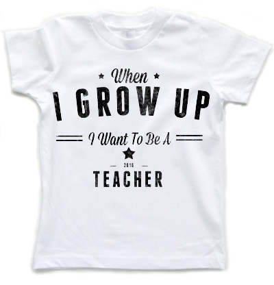 When I Grow Up I Want To Be A Teacher | Kids T-Shirt - little cutees