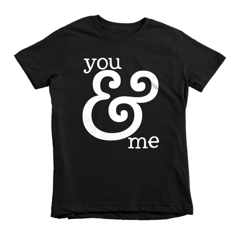 You & Me T-Shirt | Kids Black T-Shirt - little cutees