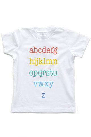 Alphabet Shirt | Kids T-Shirt - little cutees - 1
