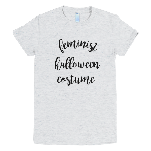 Feminist Halloween Costume Top, T-Shirt, Tee, Short Sleeve Shirt | Easy Feminist Halloween Costume - little cutees