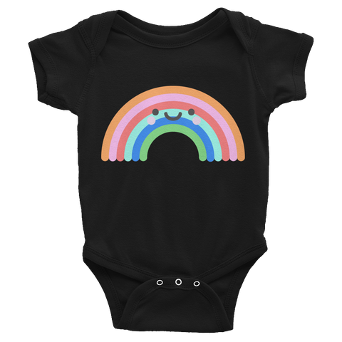 Rainbow Baby Onesie - Black