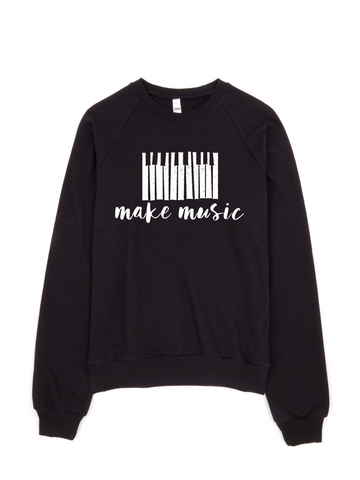 make music sweater | women's black pullover - little cutees