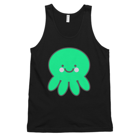 CUTEST Kawaii Octopus Black Tank Top Shirt | Unisex Adults - little cutees - 1
