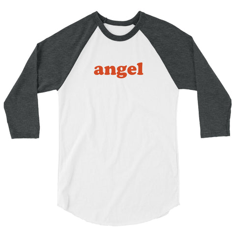 Angel Baseball Shirt [White/Charcoal Grey]