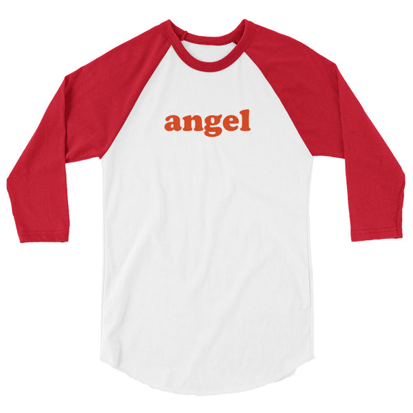 Angel Baseball Tee [White/Red]