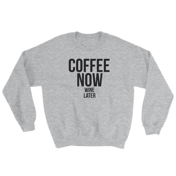 COFFEE NOW SWEATSHIRT | LITTLE CUTEES | EXCLUSIVE