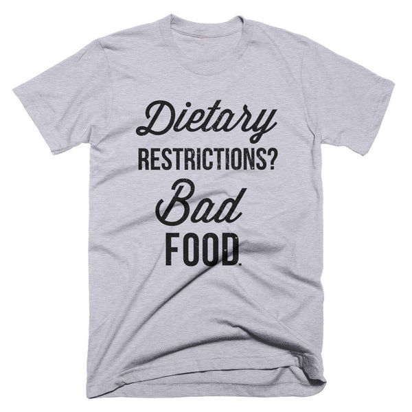 Dietary Restrictions T-Shirt | Unisex Heather Grey