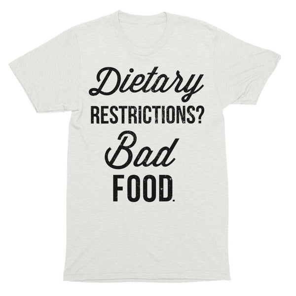 Dietary Restrictions Shirt | Unisex Oatmeal Tri-Blend
