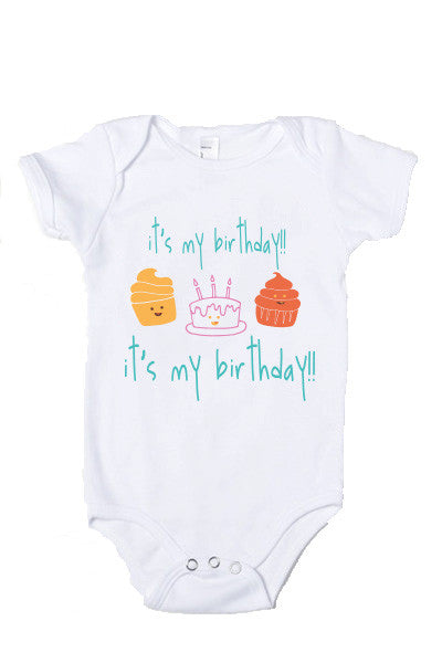 Baby Birthday Party Onesie Top Shirt T