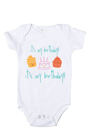 Baby Birthday Party Onesie, Top, Shirt, T-Shirt - little cutees - 1