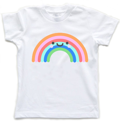 Kawaii Rainbow Kids T-Shirt - little cutees