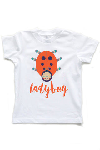 Kids Ladybug Printed Graphic T-Shirt, Top, Tee, Short Sleeve Shirt,  - little cutees