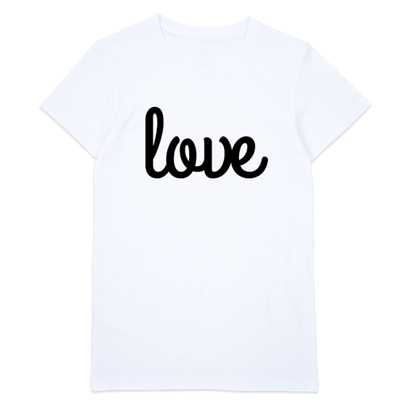 Love T-Shirt | Womens White Organic T-Shirt, Tee, Top, Graphic Shirt - little cutees