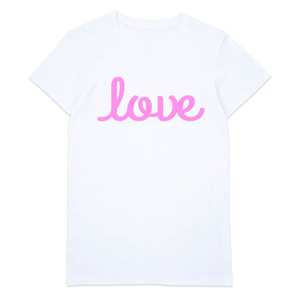 Lots of Love T-Shirt | Womens White T-Shirt - little cutees