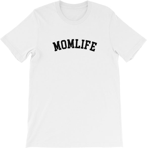 #momlife shirt white