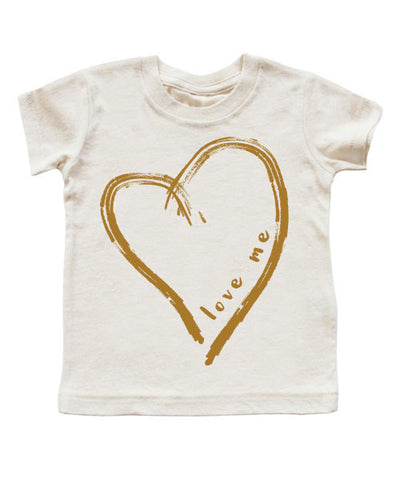 love me | cinnamon-caramel heart | kids t-shirt - little cutees - 1