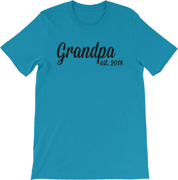 New Grandpa Shirt Aqua