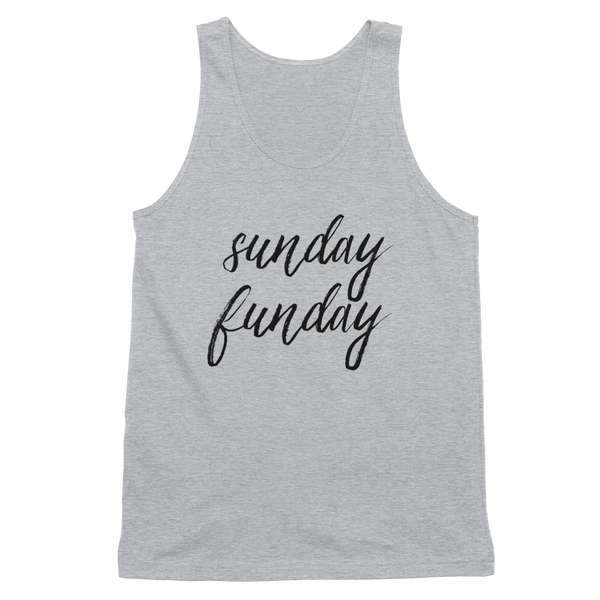 Sunday Funday Tank Top | Heather Grey Sunday Funday Shirt