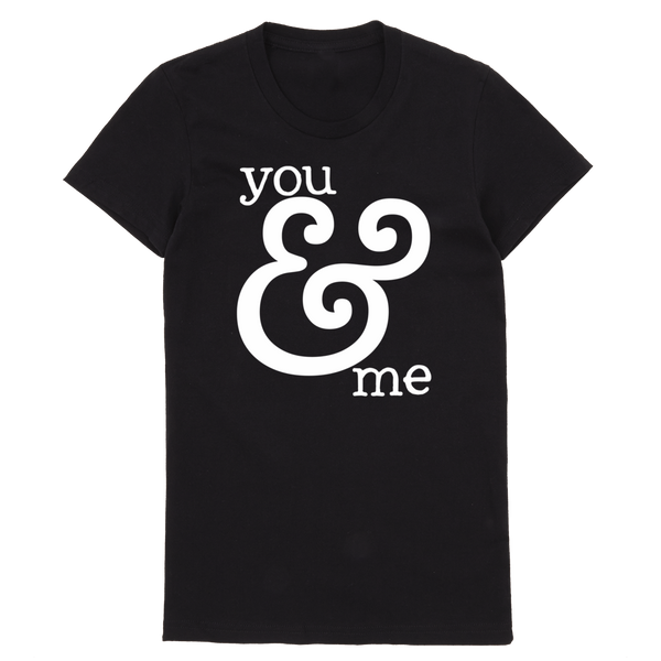 You & Me T-Shirt | Adults Black T-Shirt - little cutees