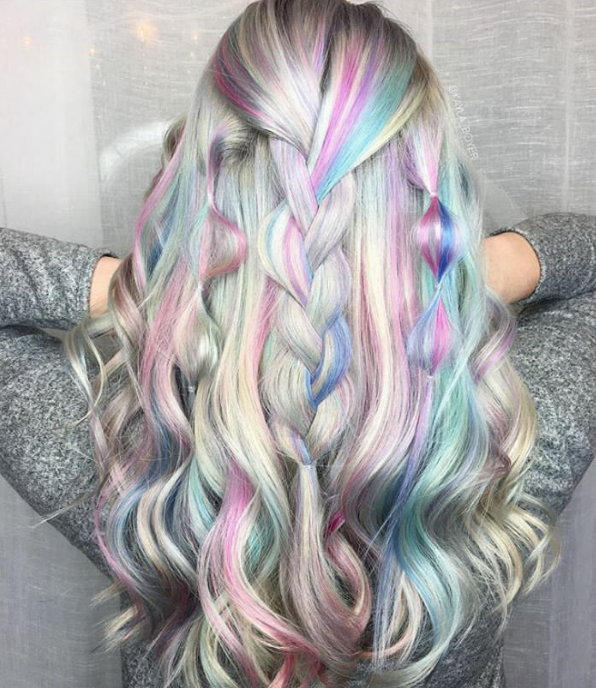 Holographic Hair Pastel Unicorn Hair The New Hair Trend