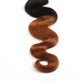 Virgin Brazilian Afro Remy Human Hair Extensions Ombre TwoTone Hair Weft Hair Weaving 100g/Bundle