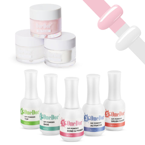 OneDor Nail Dip Dipping Powder – Acrylic Color Pigment Powders Pro Collection System, 1 Oz.
