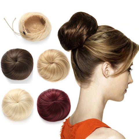 Synthetic Hair Bun Extension Donut Chignon Hairpiece Wig - OneDor