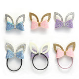 Baby Girls Shiny Ear & Bow Tie Hair Clips Barrettes for kids (6 Pieces)