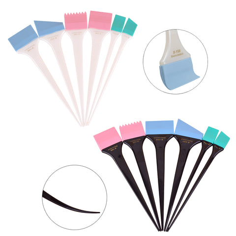 Silicone Hair Dyeing Professional Coloring Brush Applicator Tool Kit - Dye Tint DIY 2 Sets of 6 Varying sized Brushes