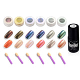Chrome Shinning Glitter Mirror Nail Powder (6 Colors- Brown,Chameleon,Purple,Gold,Silver,Green)