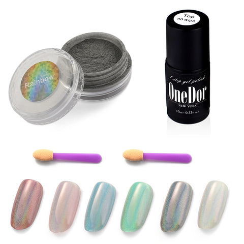 Rainbow Chrome Shinning Laser Holographic Manicure Pigment Nail Powder
