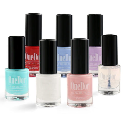 Peel-Off Gel Polish Long Lasting Moisture Air Dry Nail Polish No Soak Off Nail Lacquer Color Set - OneDor