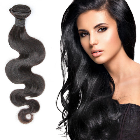 Virgin Brazilian Afro Remy Human Hair Extensions Unprocessed Natural Black Hair Weft Hair Weaving 100g/Bundle - OneDor