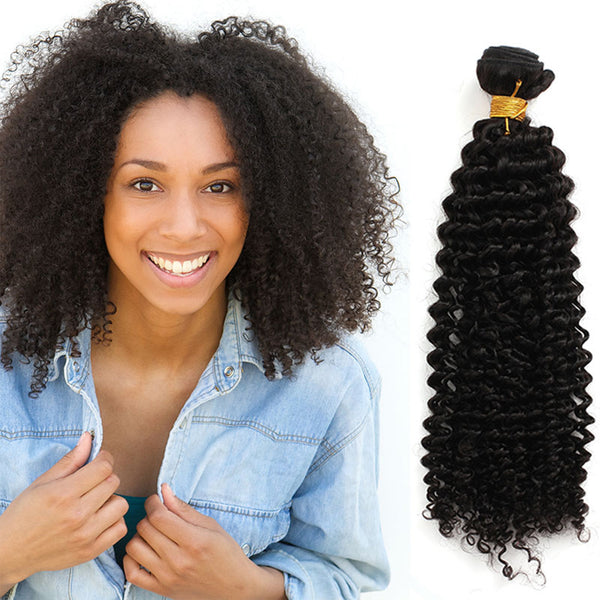 Unprocessed Virgin Mongolian Afro Kinky Curly Human Hair Weave