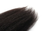Unprocessed Virgin Mongolian Afro Kinky Straight Human Hair Weave Extensions for Black Women Natural Black 100g/Bundle