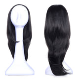 Ladies Curly 3/4 Half Wig Kanekalon Hair Synthetic Wigs with Comb on a Mesh Head Cap